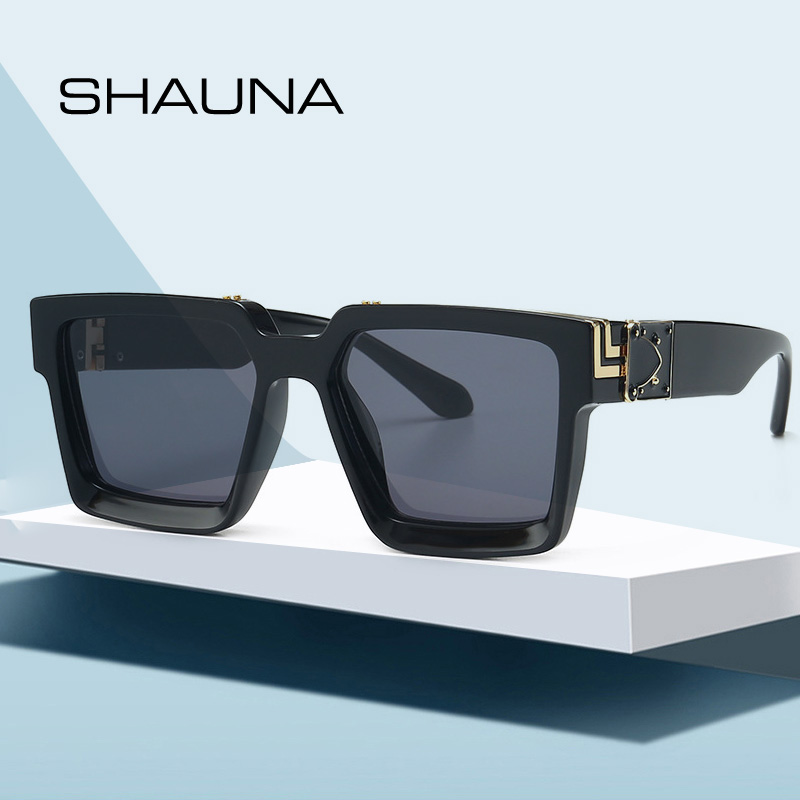 SHAUNA Retro Square Sunglasses Women Ins Popular Sun Glasses Men UV400