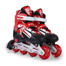 Inline Skates 4 Wheel Children Adjustable Boys Girls Leisure Outdoor Kids Roller Skates Patines De 4 Ruedas Skate Shoes(China)
