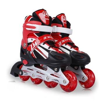 Los Patines en línea De 4 Ruedas niños ajustable niños niñas ocio al aire libre niños Patines De 4 Ruedas zapatos De Skate zapatos