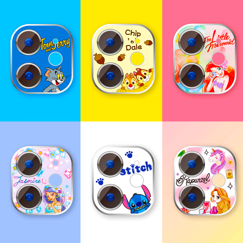 Cartoon Cute Camera Protector Case For IPhone 11 Pro Max Camera Protector Tempered Glass Lens Protection Sticker Screen Cover