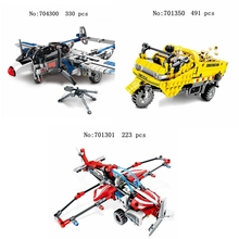 DIY 704300 701350 701301 series engineering tricycle glider fighter assembling building blocks children's educational toys gifts 804pcs cogo city buiding construction series engineering assembe building blocks educational diy model toys best gifts for kid