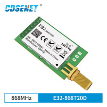 868 mhz sx1276 lora 100 mw porta serial transceptor sem fio E32-868T20D 868 mhz módulo iot rf transmissor receptor conector sma