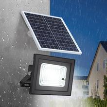 Солор питание светодиодов настенный светильник IP65 водонепроницаемый прожектор с дистанционное управление Dimmable для сад двор энергосбережение