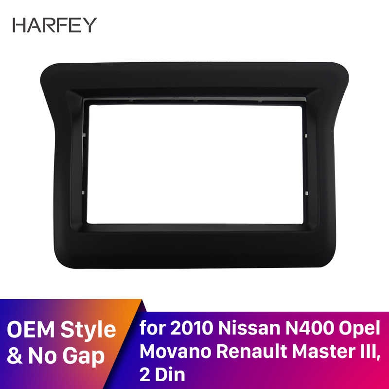 Harfey 2Din Fascia  Installation for 2010 Nissan N400 /Opel Movano /Renault Master III 173*98mm Dashboard Frame Cover Trim Panel