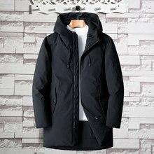 Coats Jacket Hooded Duck-Down Big-Pockets Men Plus-Size Winter Casual Warm Male Slim