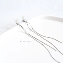 ZOBEI Minimalist Elegant Twist  Dangle Drop Earrings For Women Wedding  925 Sterling Silver Fine Jewelry