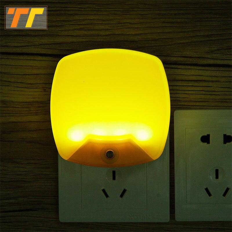 الجدار مصباح التيار المتناوب 220 فولت 110 فولت ليلة ضوء تحسس الاستشعار وحدة إضاءة led جداريّة مصباح ضوء الطوارئ الممر نوم المنزلمصابيح ليلية   -