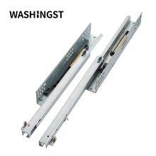 Двухсекционная длина, мягкая закрывающаяся направляющая для мебели, шкафа, выдвижного ящика