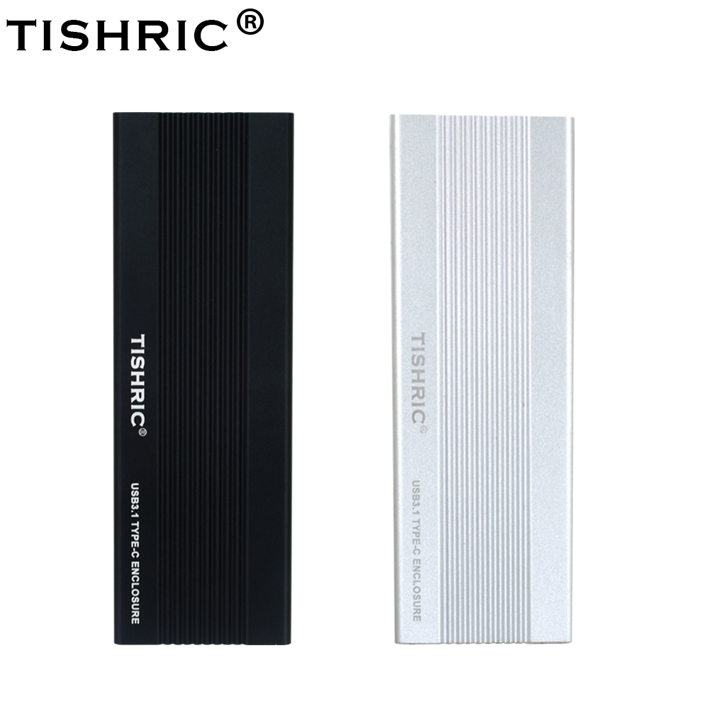 TISHRIC HDD Case USB3.1 To NVME HDD Enclosure HDD Box USB3.1 Type-C Interface Hard Drive Enclosure 3TB For External Hard Drive