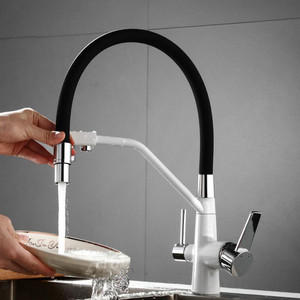 Хромированный смеситель для кухонной раковины, 3-ходовой поворотный кран для кухонной раковины из чистой воды, смеситель для питьевой воды