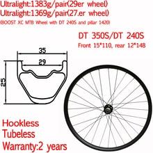 29 27.5 MTB wheels Ultralight XC asymmetric carbon Mountain bike wheels width 30mm tubeless D T 350S 240S 15*110 12*148