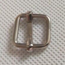 100 pcs/lot Metal Slides Tri-Glides Wire-Formed Roller Pin Buckles Strap Slider Adjuster