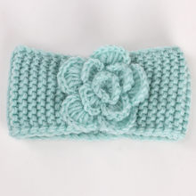 2019 Fashion Baby Turban Keep Warm Flower Knitting Infant Kids Girl Hairband Phtography Props Haarband Baby Hair Accessories(China)