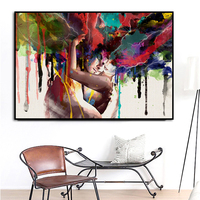 100% Hand Painted Abstract Lover Art Oil Painting On Canvas Wall Art Frameless Picture Decoration For Live Room Home Decor Gift