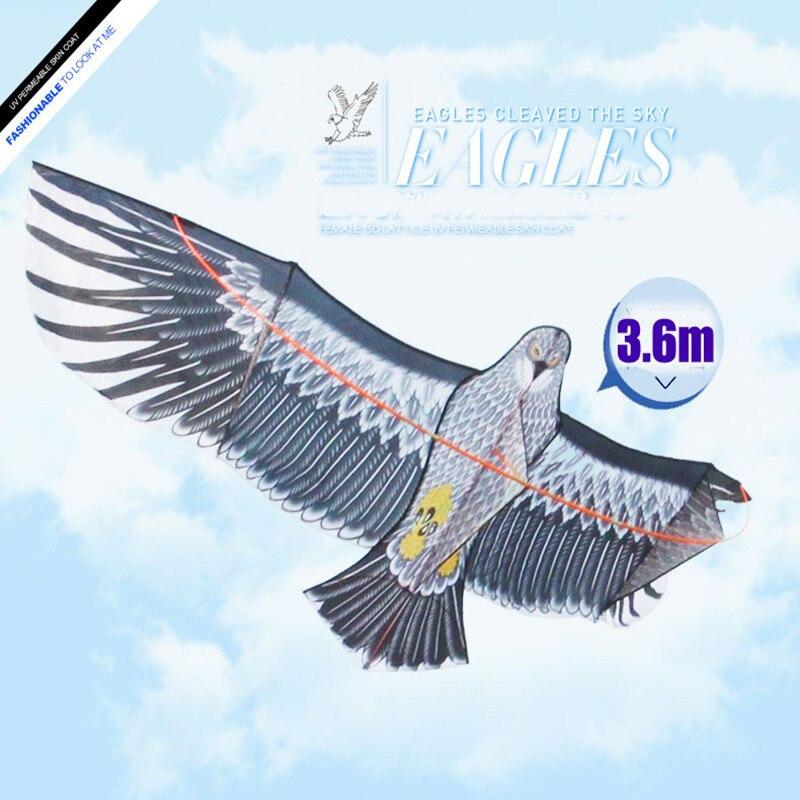 Livraison gratuite haute qualité 360cm grand aigle cerf-volant ripstop nylon tissu cerf-volant volant plus haut hcxkite usine avec poignée ligne d'alimentation