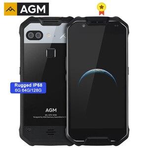 AGM X2 Водонепроницаемый смартфон с 5,5-дюймовым дисплеем, восьмиядерным процессором NFC, ОЗУ 6 ГБ, ПЗУ 64 ГБ, 128 ГБ, 6000 мАч