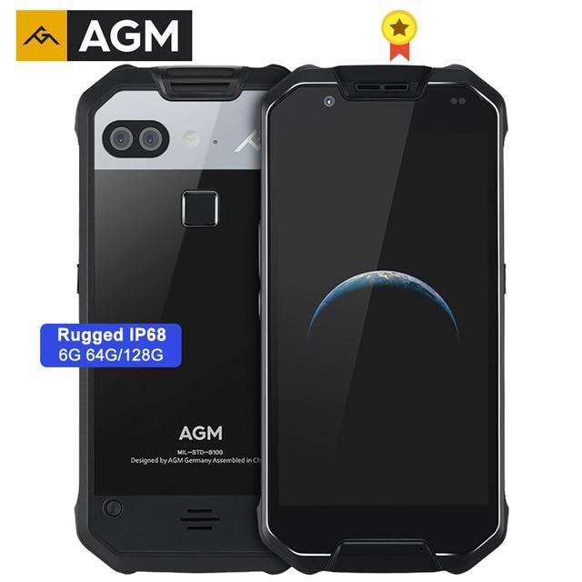 AGM X2 Водонепроницаемый смартфон с 5,5 дюймовым дисплеем, восьмиядерным процессором NFC, ОЗУ 6 ГБ, ПЗУ 64 ГБ, 128 ГБ, 6000 мАч