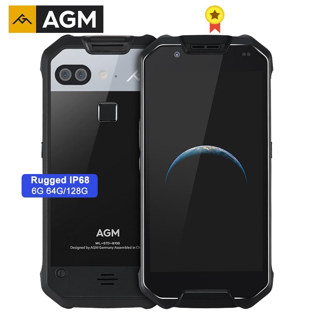 Agm x2 áspero ip68 MIL-STD-810G impermeável telefone 6000 mah carga rápida 6g + 64g/128 gb celular 5.5