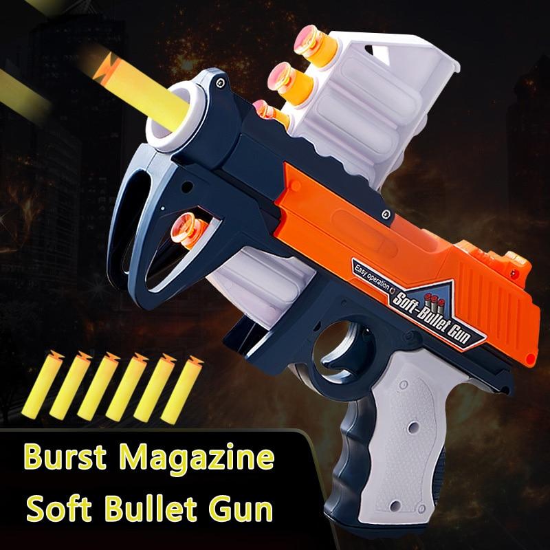 Soft Bullet Gun Child Toy Gun Safety Launchable Sucker Pistol Eva Sucker Gun Manual Boy Darts Toy Birthday Gift 1