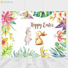 Buy Sunsfun Animals Photography Backdrop Rabbit Kid Children Birthday Party Background Banner Photo Studio Backdrop Photo Prop directly from merchant!