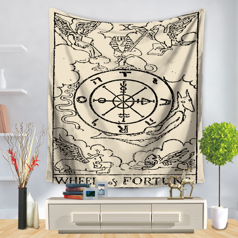 Image 5 - Tarot Card Tapestry Wall Hanging Astrology Divination Bedspread Beach Mat Decorative TapestryTapestry