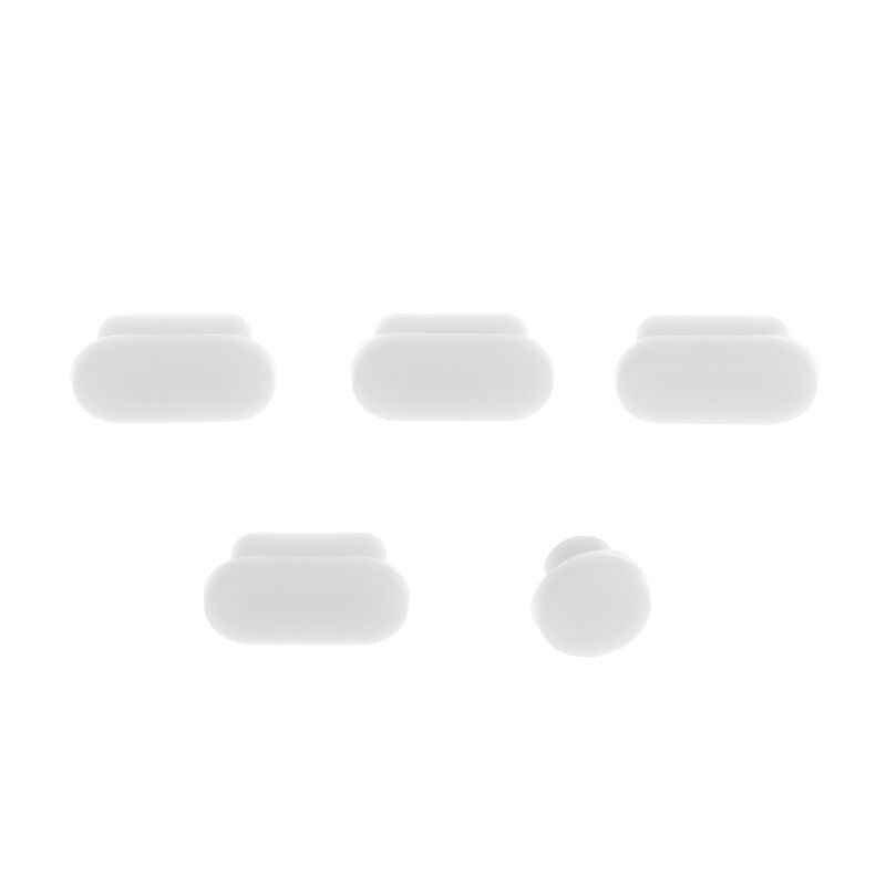 5 قطعة مكافحة الغبار المقابس سيليكون محمول منفذ البيانات الرافعات سدادة الغبار السنانير مجموعة غطاء ل أبل ماك بوك برو اللمس بار