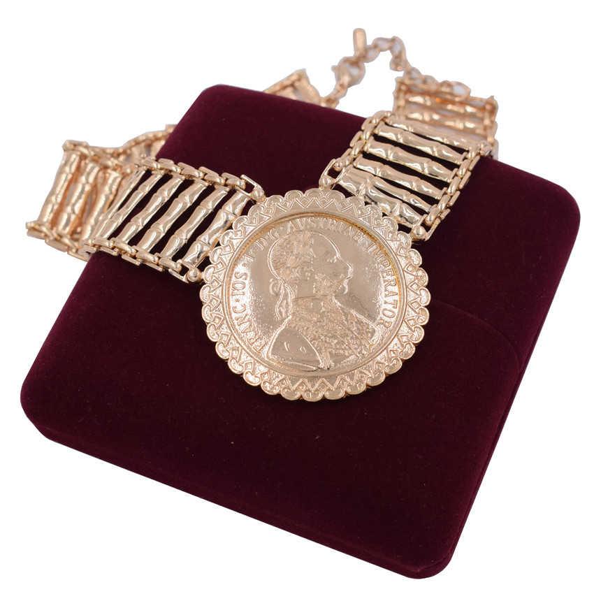 2019 mode African Dubai gold Farbe schmuck set Großhandel Marke Nigerian braut perle hochzeit Schmuck-set Für Frauen kostüm