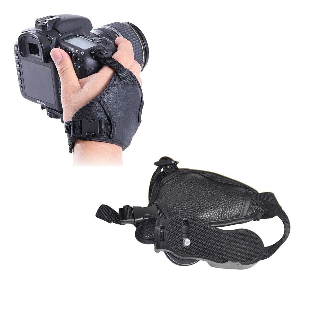 Accesorios de fotografía y vídeo para cámara correa de muñeca de cuero correa de mano de la Cámara reemplazo para Canon Nikon Sony Pentax Olympus DSLR