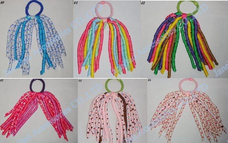 100 шт коркер конский хвост держатели стример смешать сотни цветов коркер конский хвост растяжки красочные