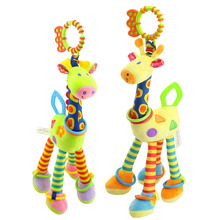 47cm 18.5 Giraffe Rattle Baby Toys 0-12 Months Crib Mobile for Newborns Plush Toy Stroller Educational