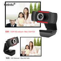 Cámara Web giratoria USB para grabación de vídeo Webcam HD 720P con micrófono para PC, ordenador, portátil, de escritorio