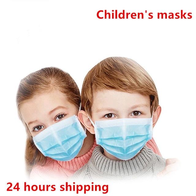 50pcs kids mask Anti Virus Disposable Masks 3 Layer pm25 filter Hygiene Mask Prevent flu Face Mask High quality Children masks