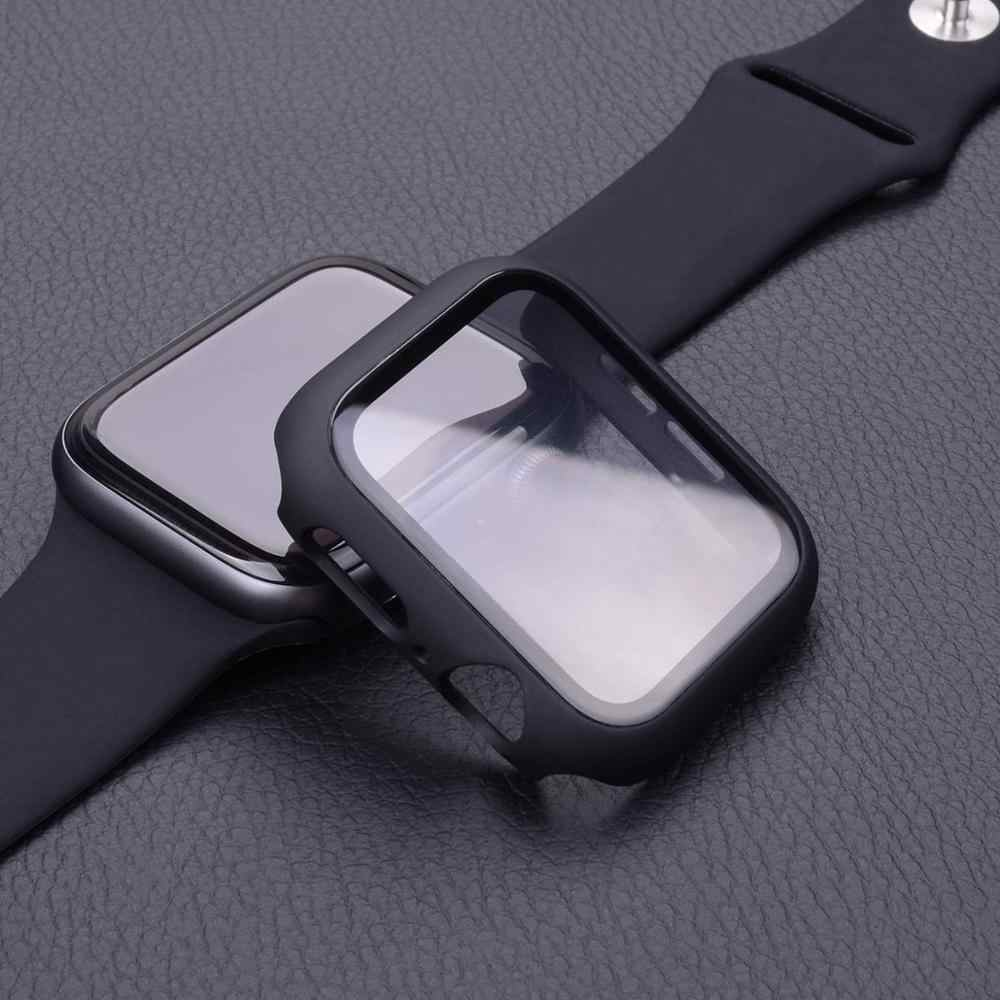 Case+Tempered Glass For Apple Watch 44mm 40mm Series 5 4 3 2 1 Screen Protector cover Bumper case for iwatch 5 4 3 2 1 42mm 38mm
