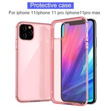 Protective Case Soft Silicone Transparent Phone Cover for iPhone 11/iPhone 11 pro /iPhone11pro max