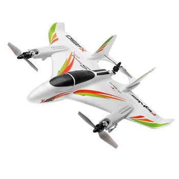 цена на WLtoys XK X450 2.4G 6CH 3D/6G RC Airplane Brushless Motor Vertical Take-off LED Light RC Glider Fixed Wing RC Plane Aircraft RTF