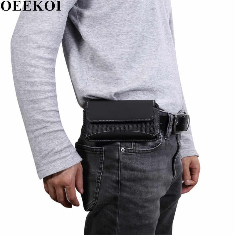 OEEKOI Universal Durable Oxford Cloth Belt Clip Pouch Case for LG