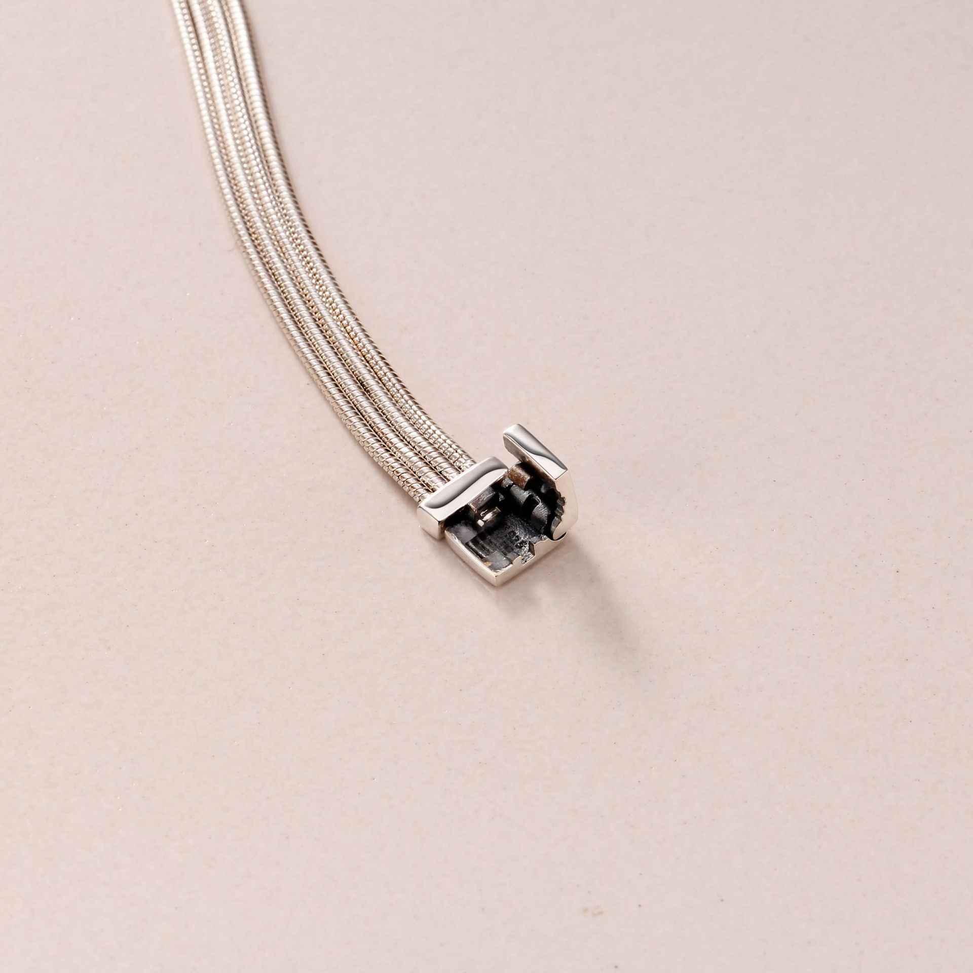 Original 925 Sterling Silber Armband Reflexions Multi Schlange Kette Armband Armreif Fit Frauen Perle Charme Diy Mode Schmuck