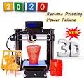 Лидер продаж, Модернизированный высококачественный Высокоточный 3D-принтер Reprap Prusa i3 «сделай сам» для моделирования, в наличии на складе в В...