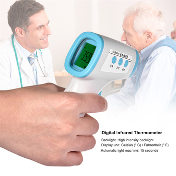Non-contact body thermometer Forehead Infrared Thermometer  Forehead Temperature Backlight Meter Portable Measuring Tool