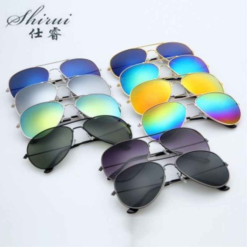 2019 Men Classic Pilot Sunglasses Alloy Frame Sun Glasses For Men Driving UV400 Protection Anti-Reflective Blue Silver Gold
