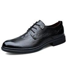 Fashion Business formal Genuine leather shoes Men dress shoes Black oxford shoes for men shoes leather zapatos de hombre