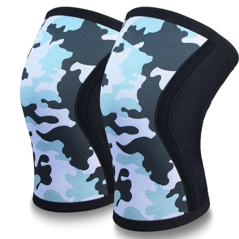 הברך שרוולים (1 זוג), 7mm עבה דחיסת מגני ברך תמיכה משקולות | צלב אימון | Powerliftimen