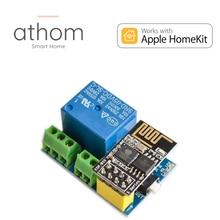 Athom pré flash homekit 5v wifi módulo de relé esp01s