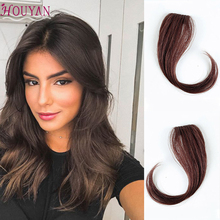 HOUYAN 25-35CM natural human hair clip on the front side of