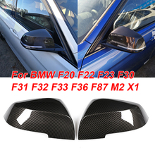 купить 2PCS Carbon Fiber Mirror Cover ABS Plastic For BMW F20 F22 F23 F30 F31 F32 F33 F36 F87 M2 X1 car Rear View Mirror Cover по цене 1146.48 рублей