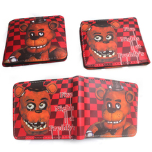 Cartoon Five Nights Freddy PU Leather Short Small Bifold Wallet Coin Card Holder Slim Purse Men Thin Money Bag high quality 2019