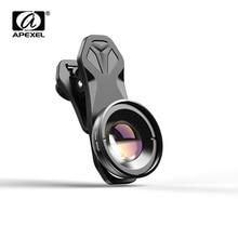 APEXEL HD 30 80mm lente macro Fotografia 10x Super Lentes Macro para o iphone xiaomi redmi huawei mostsmartphones dropshiping