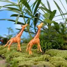 1pcポータルミニチュアキリン鹿ラブリー動物ガーデンホーム装飾リトルミニおもちゃdiyアクセサリー盆栽フィギュア