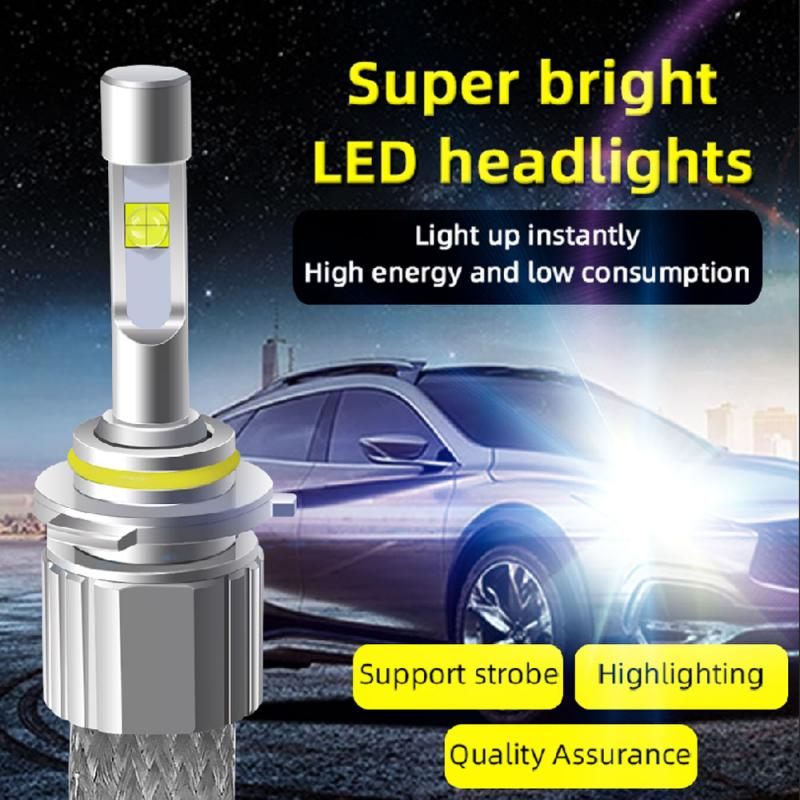 2 Pcs P50-6 Generation Automobile H1 H3 H4 H7 H8 9005 9006 9012 LED Headlamp 6000K With Lens Woven Aluminum 55W IP67 Waterproof
