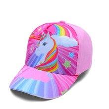 Boné de beisebol infantil, chapéu para meninas de 3-8 anos, boné de unicórnio para caminhão de verão crianças crianças